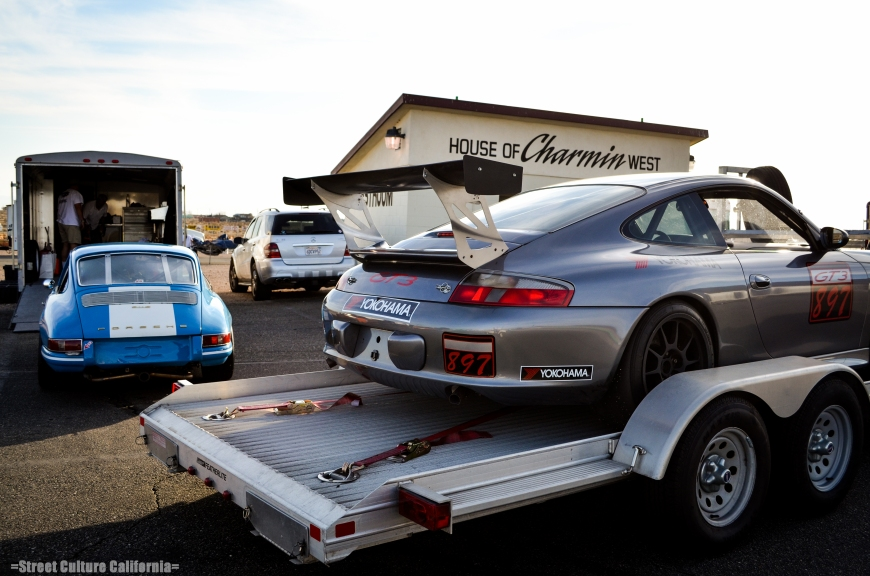 Porsches, Porsches, and more Porsches.
