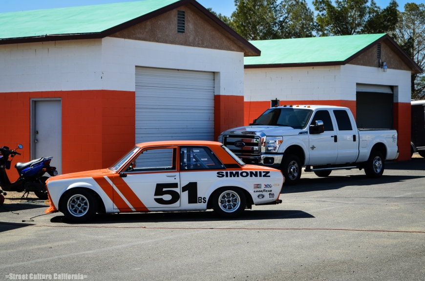 This Datsun 510 was pitted across from us. I was liking the Orange paint scheme (mostly because my RX7 is Orange as well)