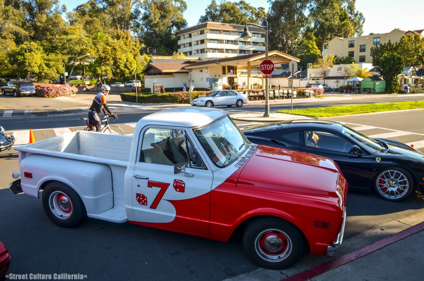 This was one of the coolest custom painted trucks, patterned after the famous Gee Bee racing plane.