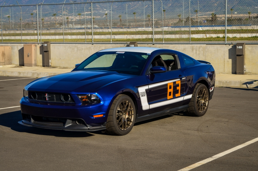 In addition to the races, there was also an HPDE going on. Here, a Boss 302 sits, waiting to be driven
