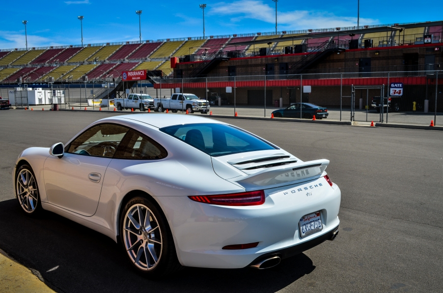 There were about 4 Porsche 911's rolling around the paddock this weekend, including this white one, sitting pretty at the end of Garage 2.
