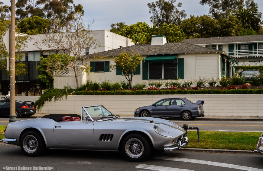 In addition to new ferrari's, there were some classics; including this amazing looking 250 Spider.