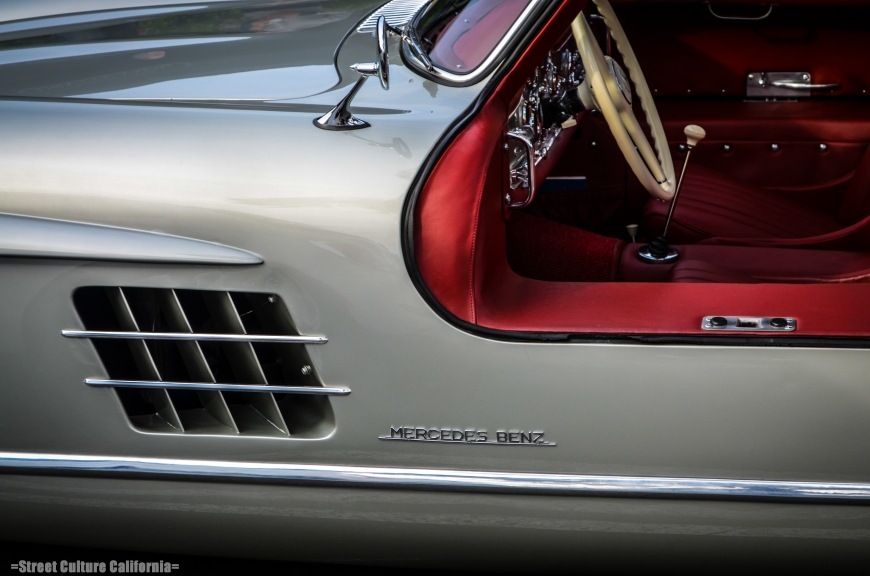 This 300SL was a showstopper. Gorgeous lines and an amazing red interior to boot.