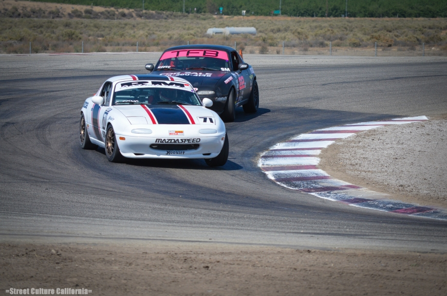 Some of the closet racing was with the SM (Spec Miata) class