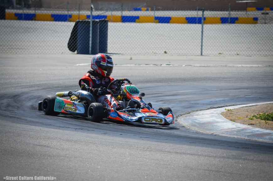 In addition to cars racing around the track, there were also a couple of karts running around one of the smaller tracks at the Buttonwillow raceway complex.