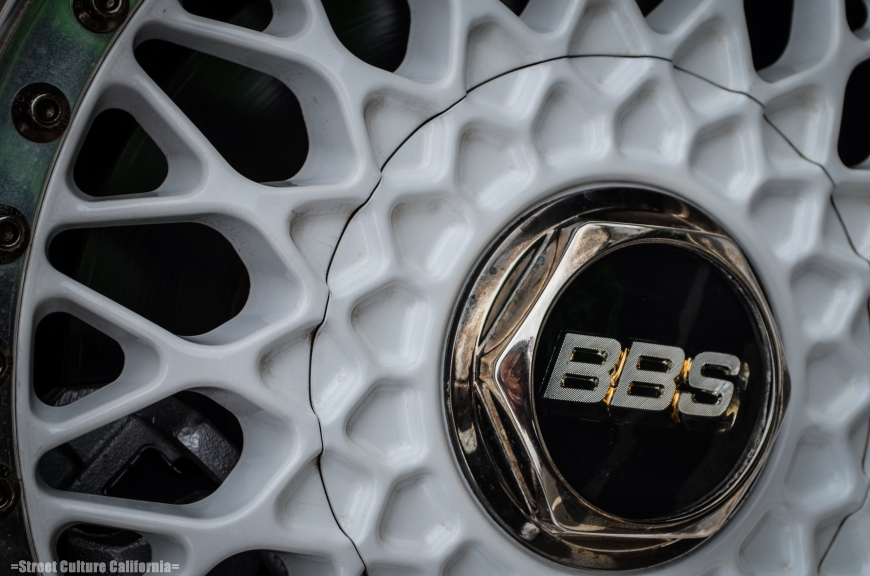 Along with many sets of volks, there were also a fair share of BBS wheels, including this set of White RS's.