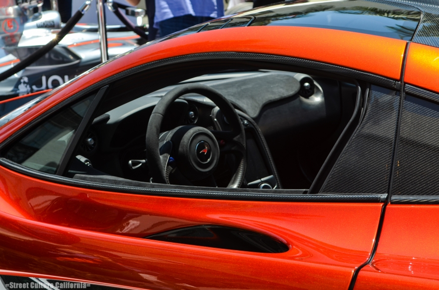The interior of the car was not very impressive. It was like the MP4-12c, with lots of suede and carbon accents. But if anyone is going to may near $1,000,000 for a car, I would expect the interior to show it,