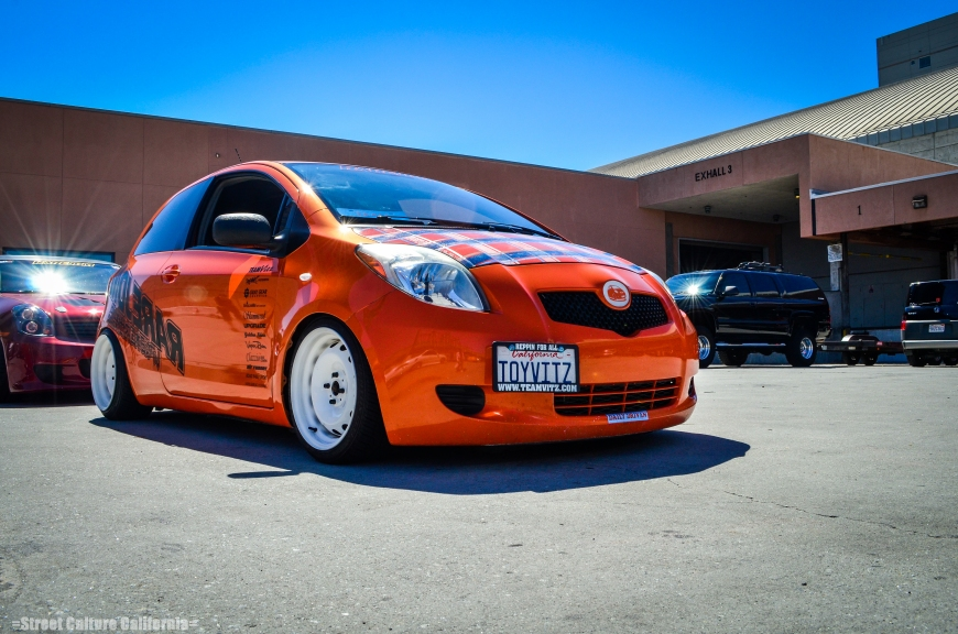 As the cars lined up, I had a chance to finally see what caliber of cars were going to be in the show. I was astounded as every car I saw was a showstopper, like this slammed Yaris.