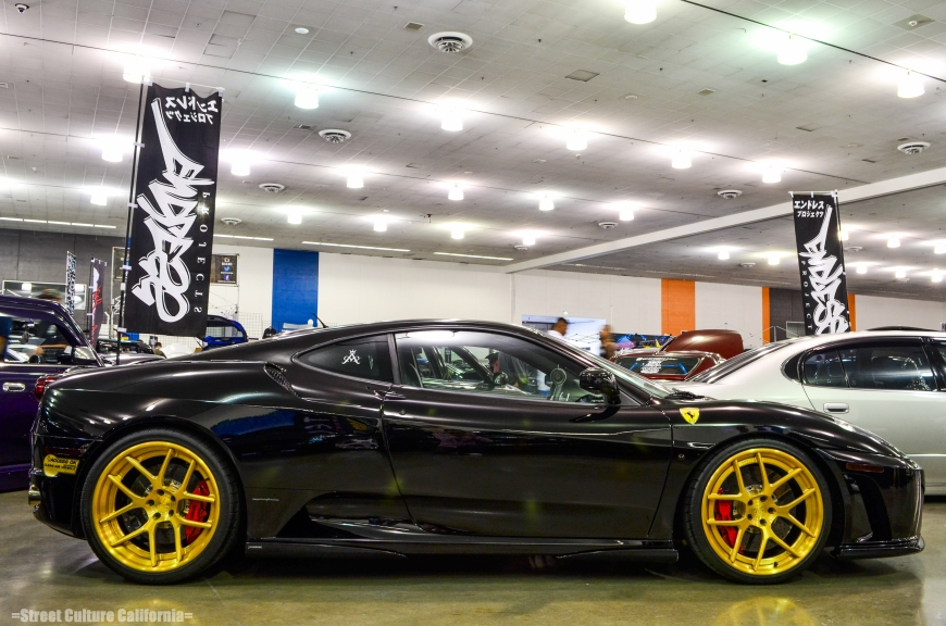 "I think this was the only Ferrari at Wekfest. I loved the ""Access OK"" stickers on the bumpers."