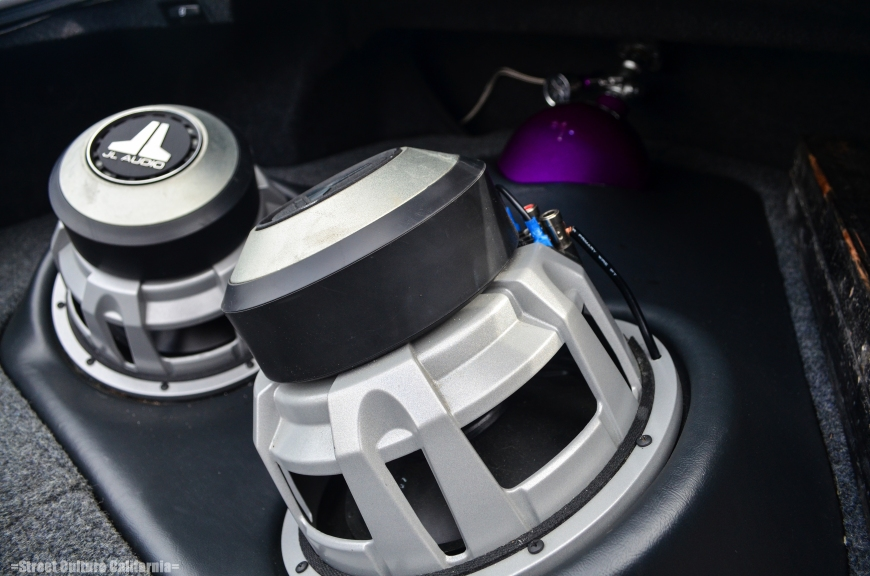 The trunk has no space for luggage, it has taken up by a pair of massive subwoofers and a nitrous bottle.