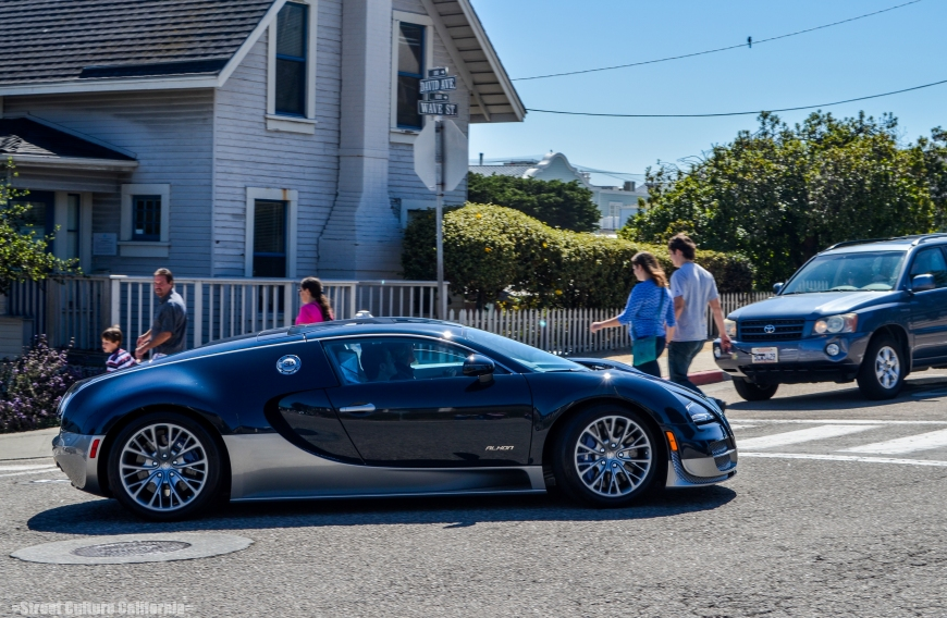 Later in the day my family and I headed to the Monterey Bay Aquarium and I saw this; a Bugatti Veryon Super Sport.  I immediately knew then, that Monterey Car Week had officially begun.