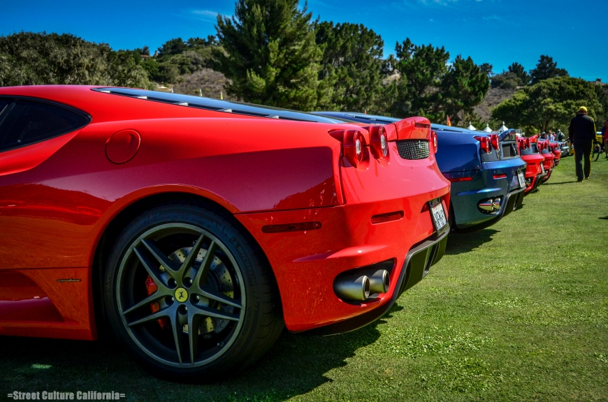 There were also new Ferrari's. These F430's were lined up and it seemed like the line went for miles.
