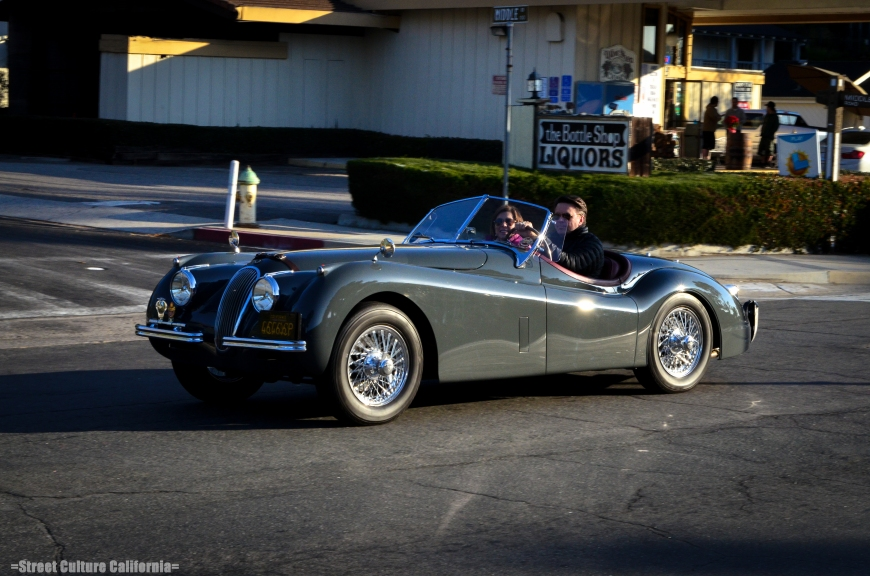 Along with a lot of American Muscle, there were some Brits that showed up, too. Including a few Jag E-Types and a beautiful near unrestored XK120.