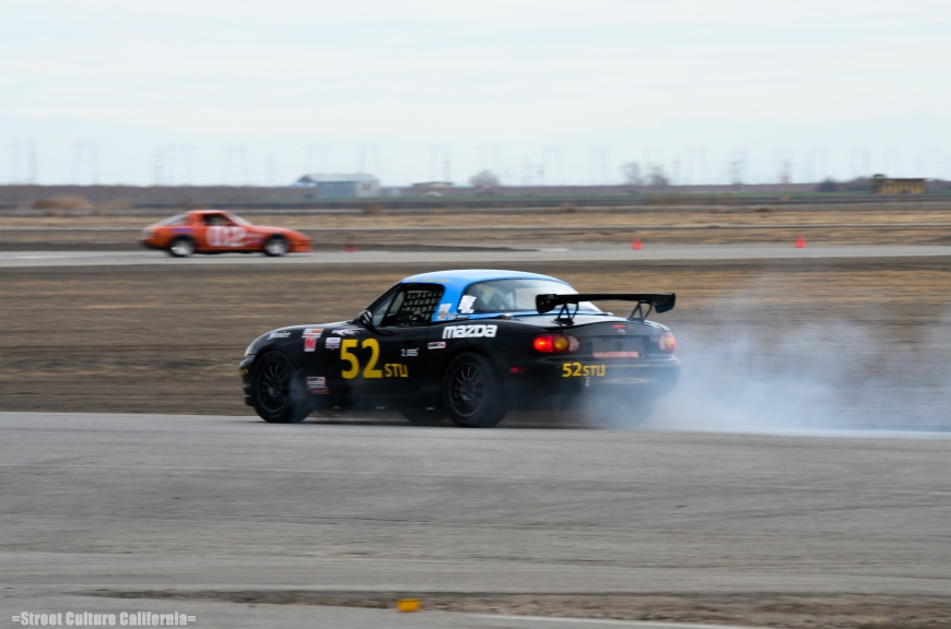 Like any race, there are bound to be a few mishaps...this Miata's engine unfortunately let go nearing the end of the first race.