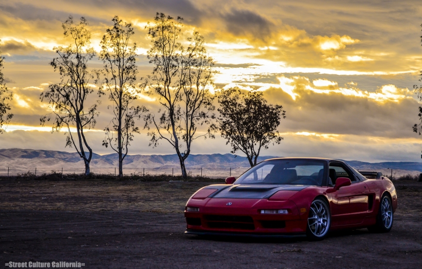 At the end of the day, I had a little extra time to watch the sunset and take more pictures of the NSX before I set off home.