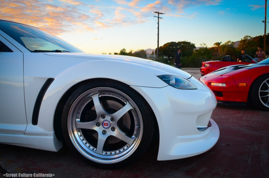 The car sits on 19x9.5 and 19x10 HRE 545 wheels with BC Racing coilovers.