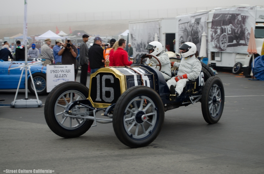 The morning started very early with the pre-war cars. The fog was so thick that morning I could hardly see what was in front of me.
