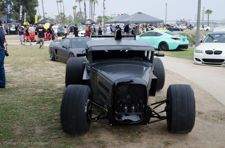 This was one of the most unique cars of the show. it was custom built hot rod with a S2000 engine in it.